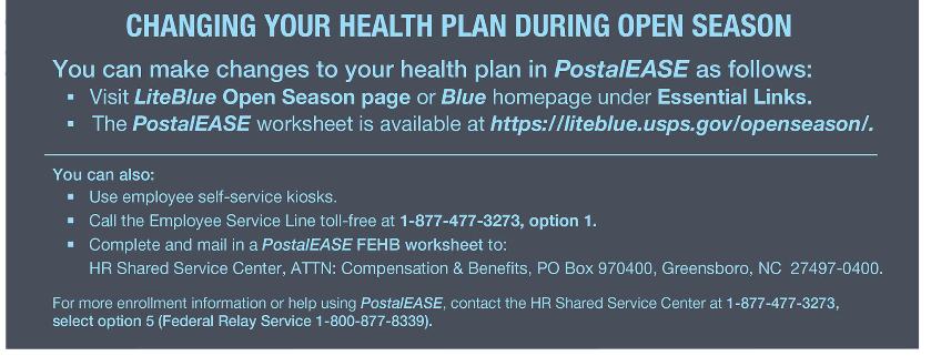 Changing Health Plan