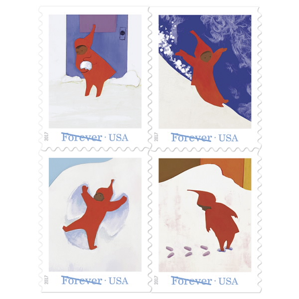 USPS Issues The Snowy Day Forever Stamps | PostalMag com