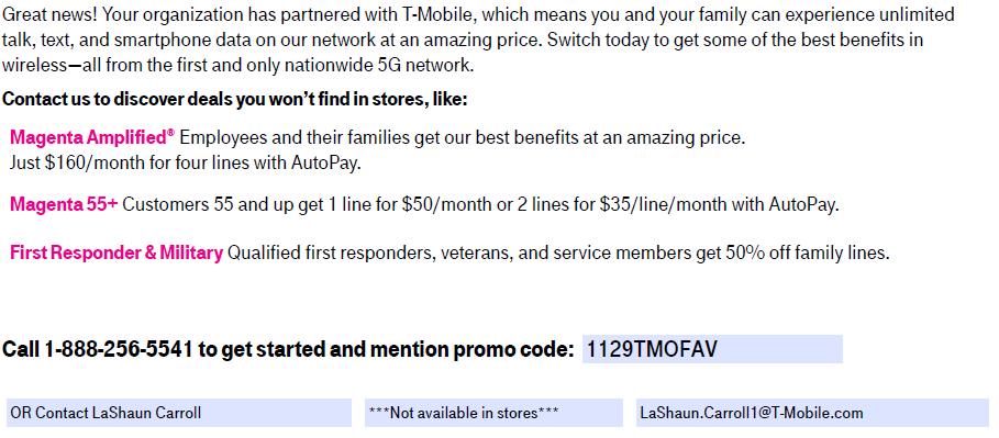 T-Mobile USPS Promotion