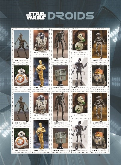 Star Wars Droid Stamps